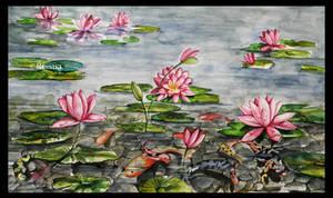 Lotus Koi Pond