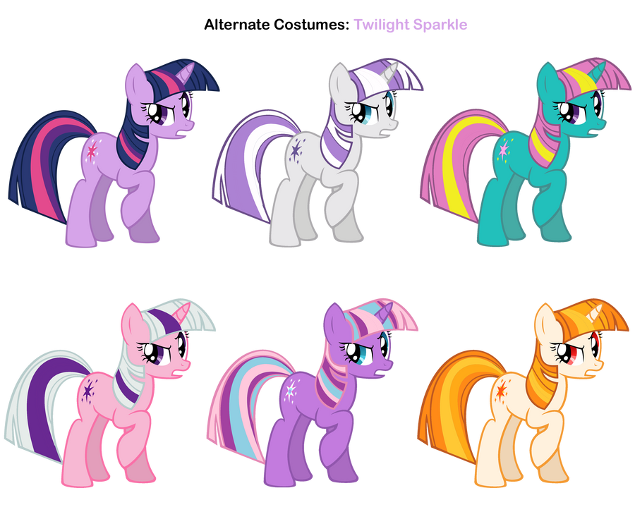 FiM skins: Twilight Sparkle by Pika-Robo