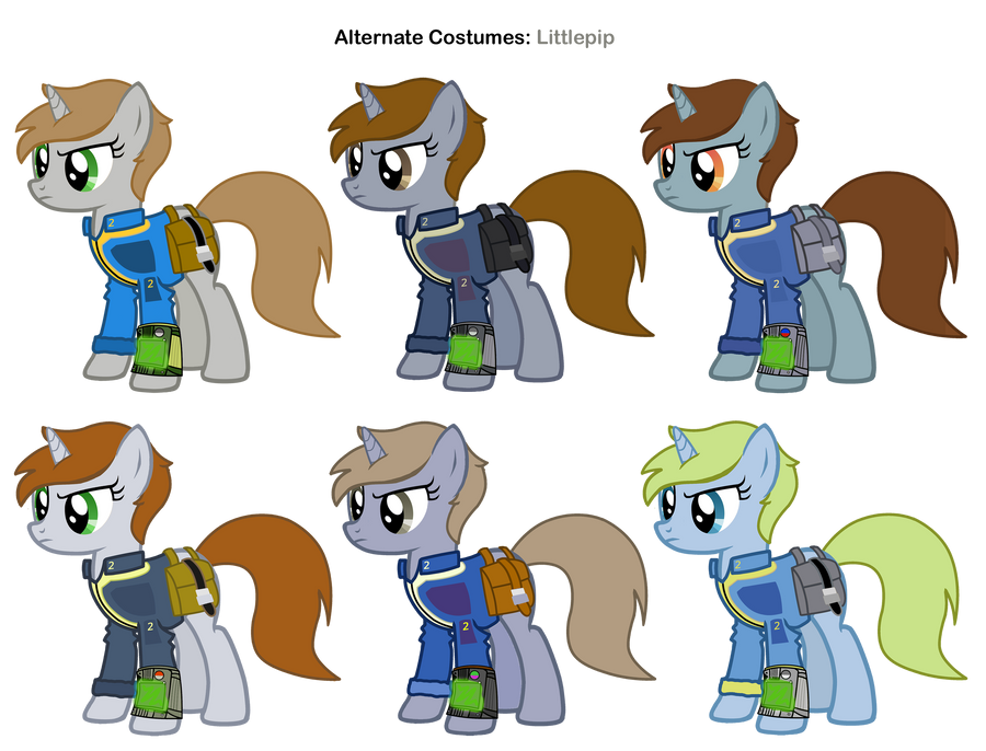 FiM skins: Littlepip by Pika-Robo