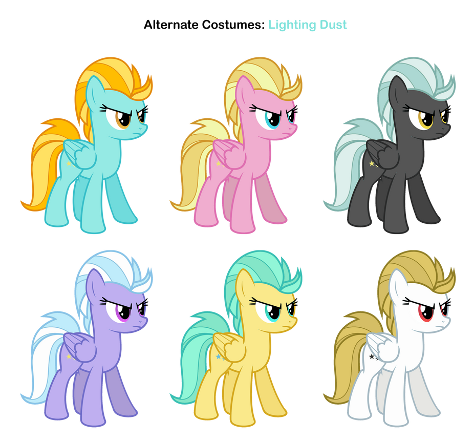 My Little Pony Lightning Dust Coloring Pages : Fim skins lightning dust by pika robo on deviantart
