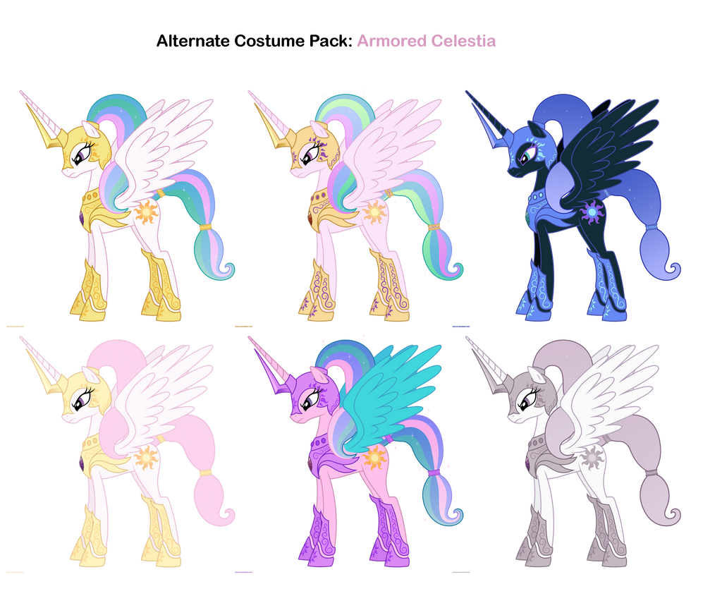 FiM Costumes: Armored Celestia by Pika-Robo