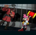 Rival Battle: Amy vs Soldier