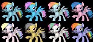 Alternate Costumes:  Rainbow Dash
