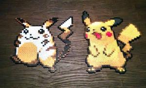 Double Pikachu Perler sprites