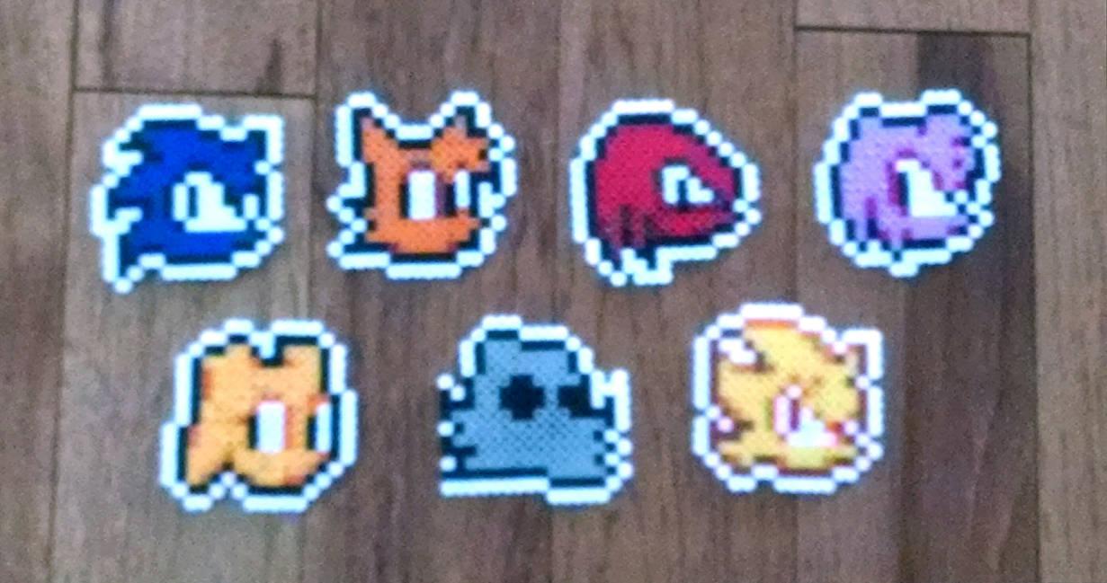 Sonic Advance Icons Perler Sprites By Pika Robo On Deviantart