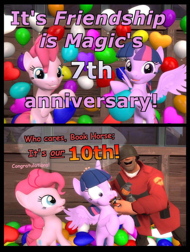 Happy anniversary FiM and The Orange Box! by Pika-Robo