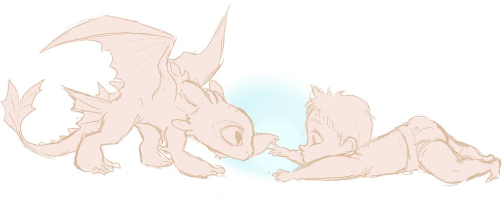 Babies sketch by ASAMESHII