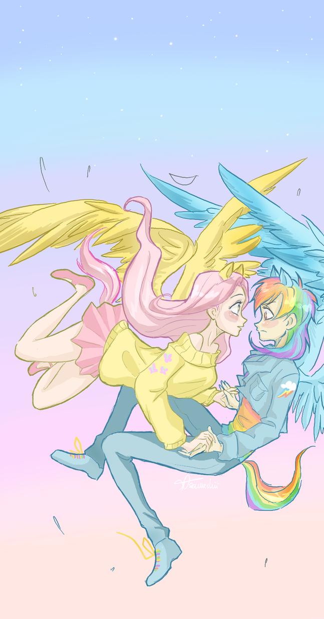 Falling ponies by ASAMESHII