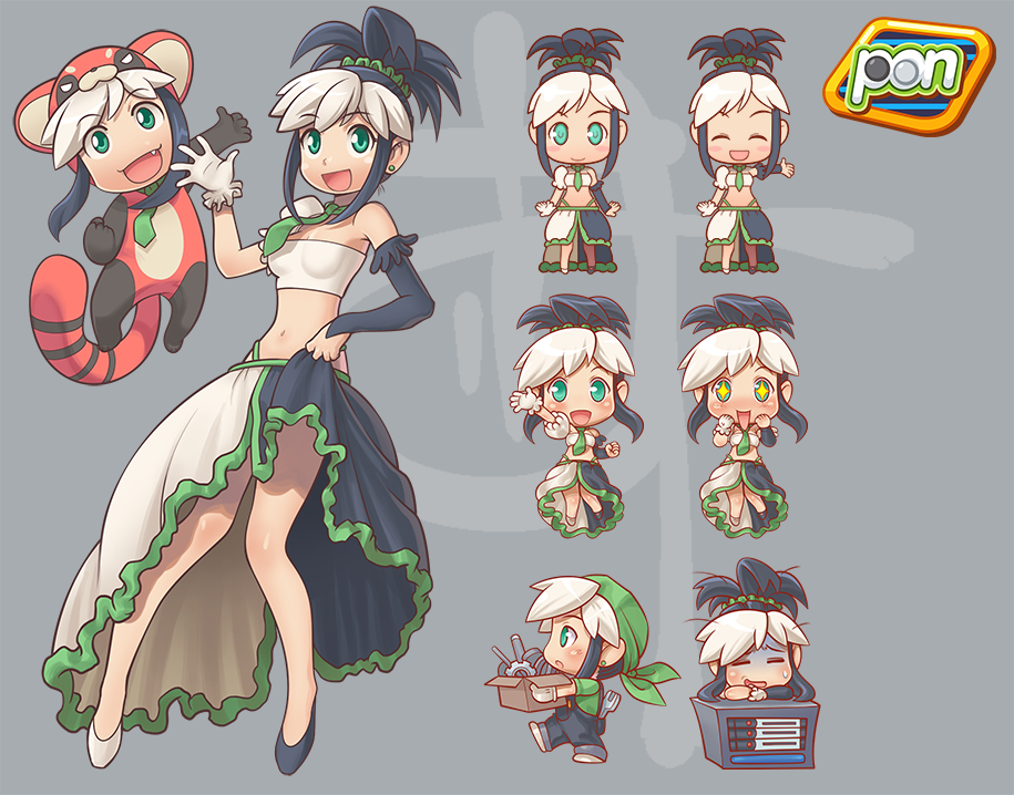 Character Design Girl : Work pon girl character design by yamitoki on deviantart