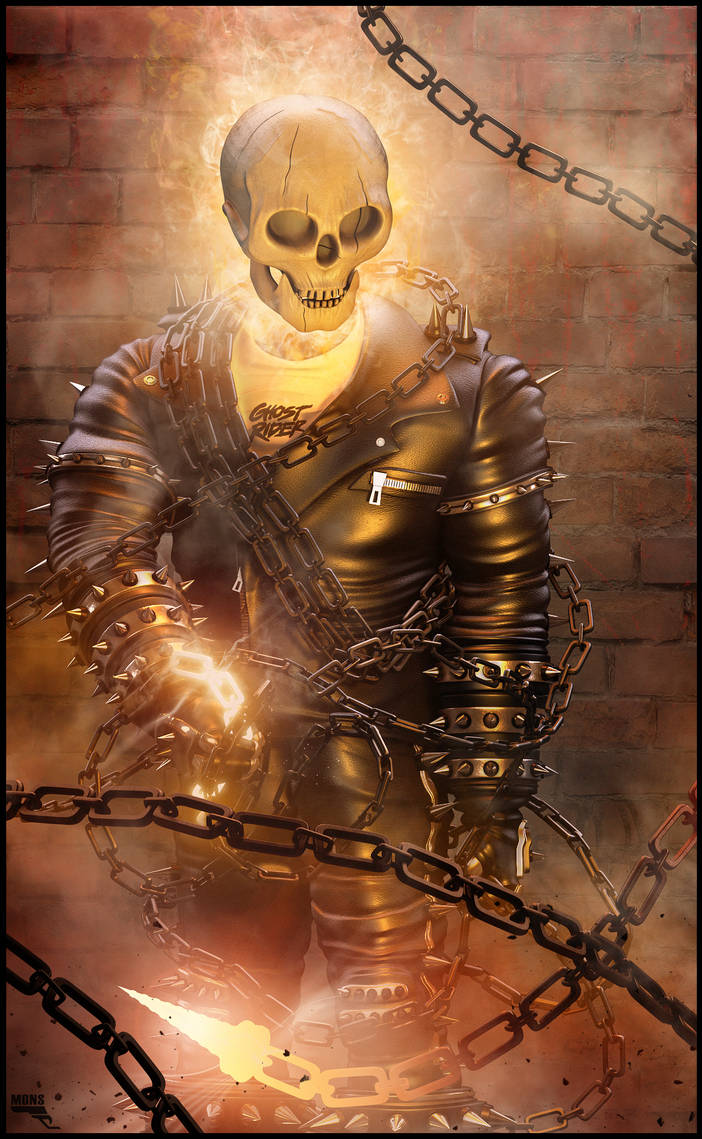Ghost Rider 3d by MarcMons007 on DeviantArt