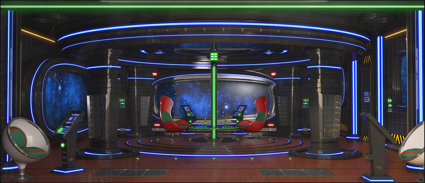 Sci-Fi Living Room by MarcMons007