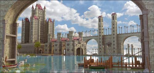 Fantasy Landscape by MarcMons007