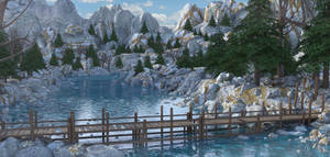 Cold River Landscape by MarcMons007