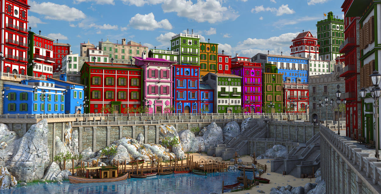 SeaScape Town by MarcMons007
