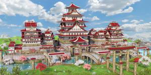 Fantasy Asian Castle