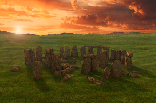 Stonehenge. 3d environment.