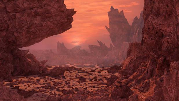 Mars 3d environment.