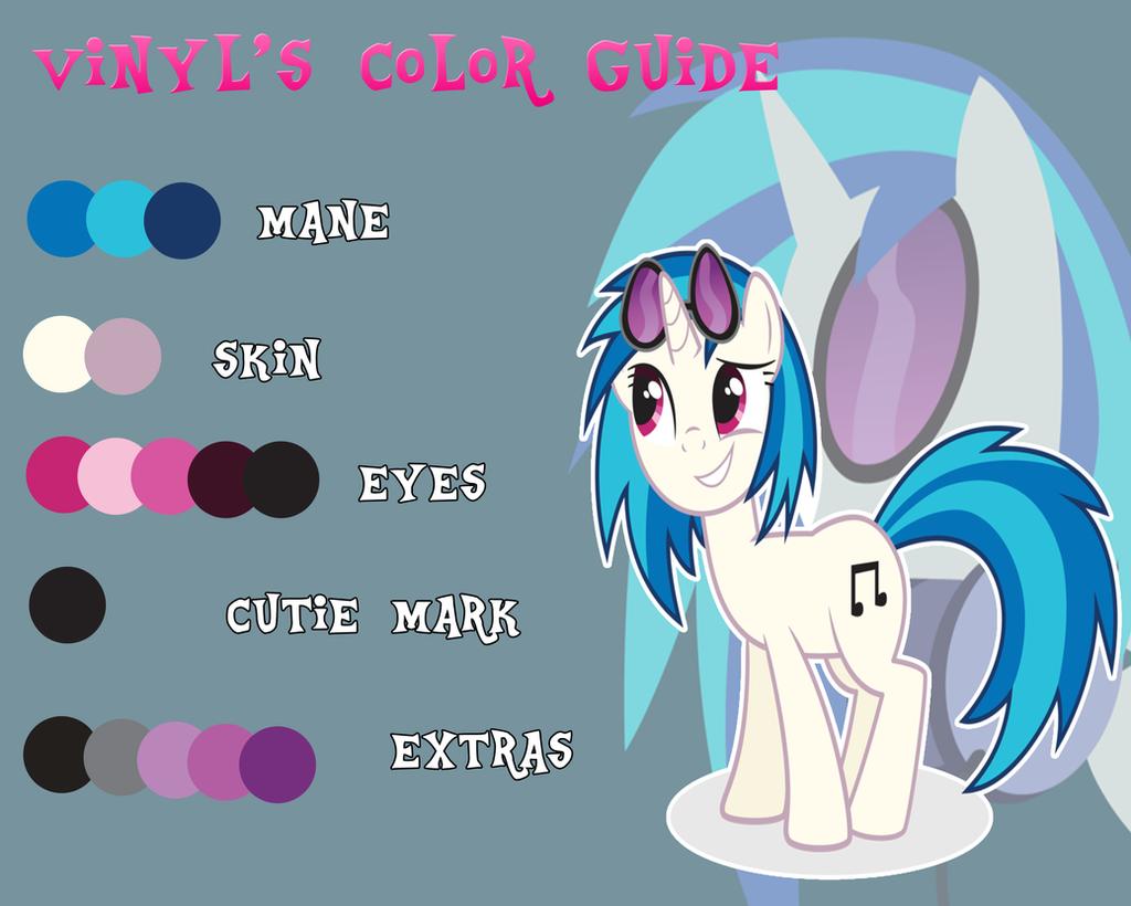Vinyl Scratch Color Guide By Alme Nyan On Deviantart
