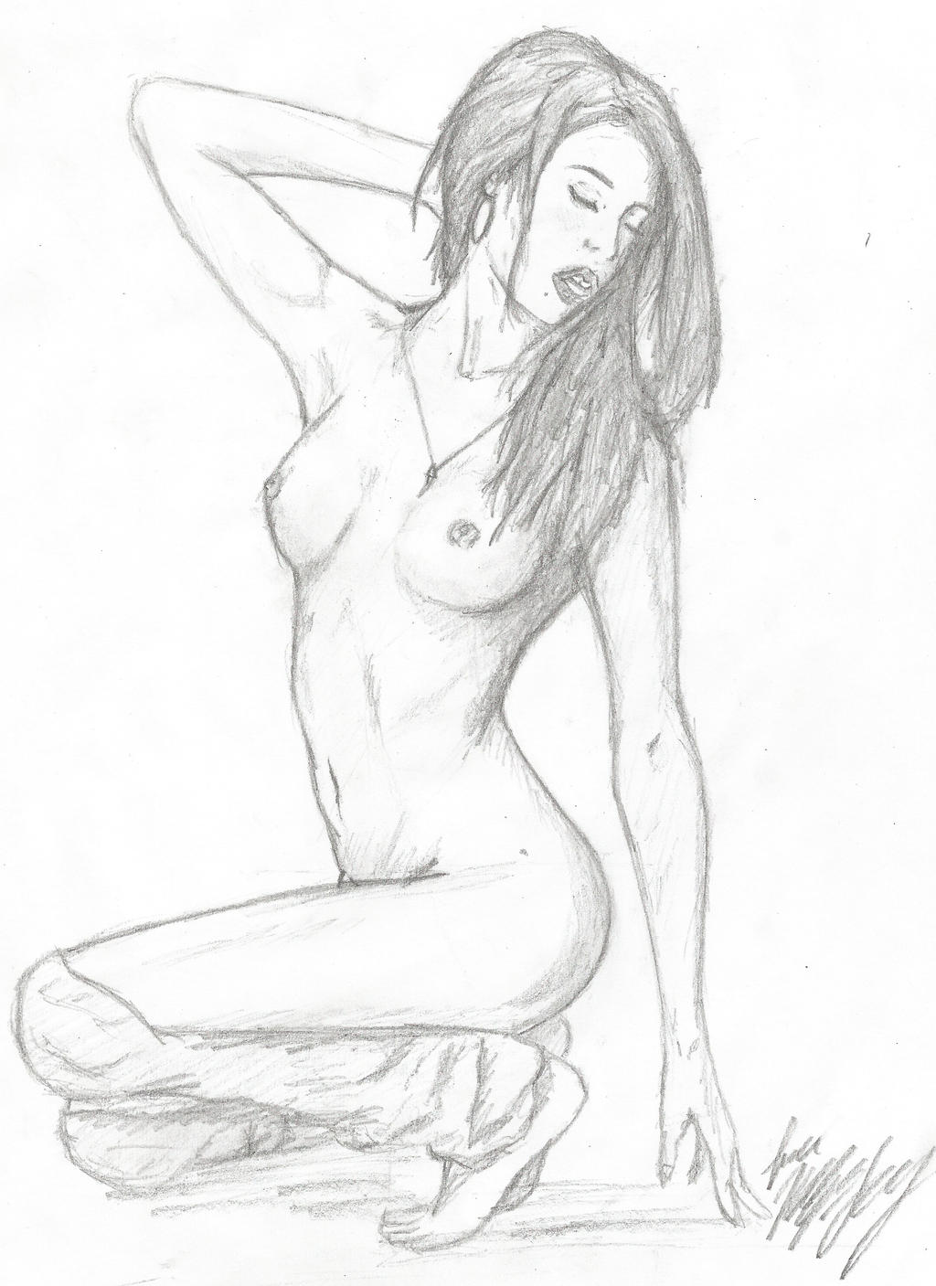 Women hot drawings naked