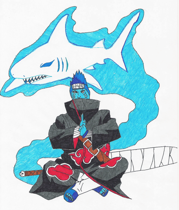 kisame and his shark jutsu by metalfenix on DeviantArt