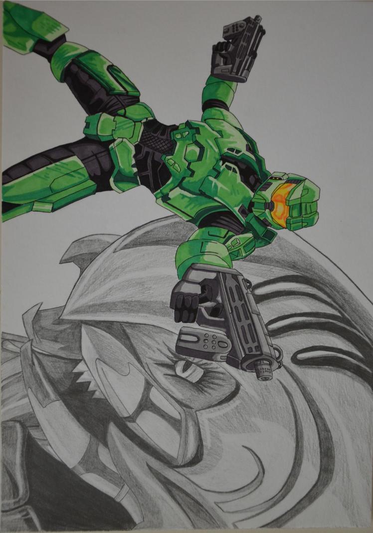 Halo: MasterChief and Arbiter by metalfenix