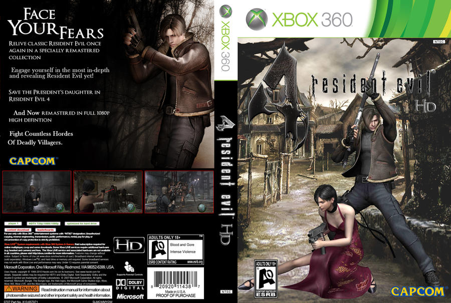 Resident Evil 4 Hd Xbox 360 By Undeadghost On Deviantart