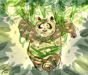 A lost panda