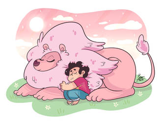 Steven and Lion by Pandalana