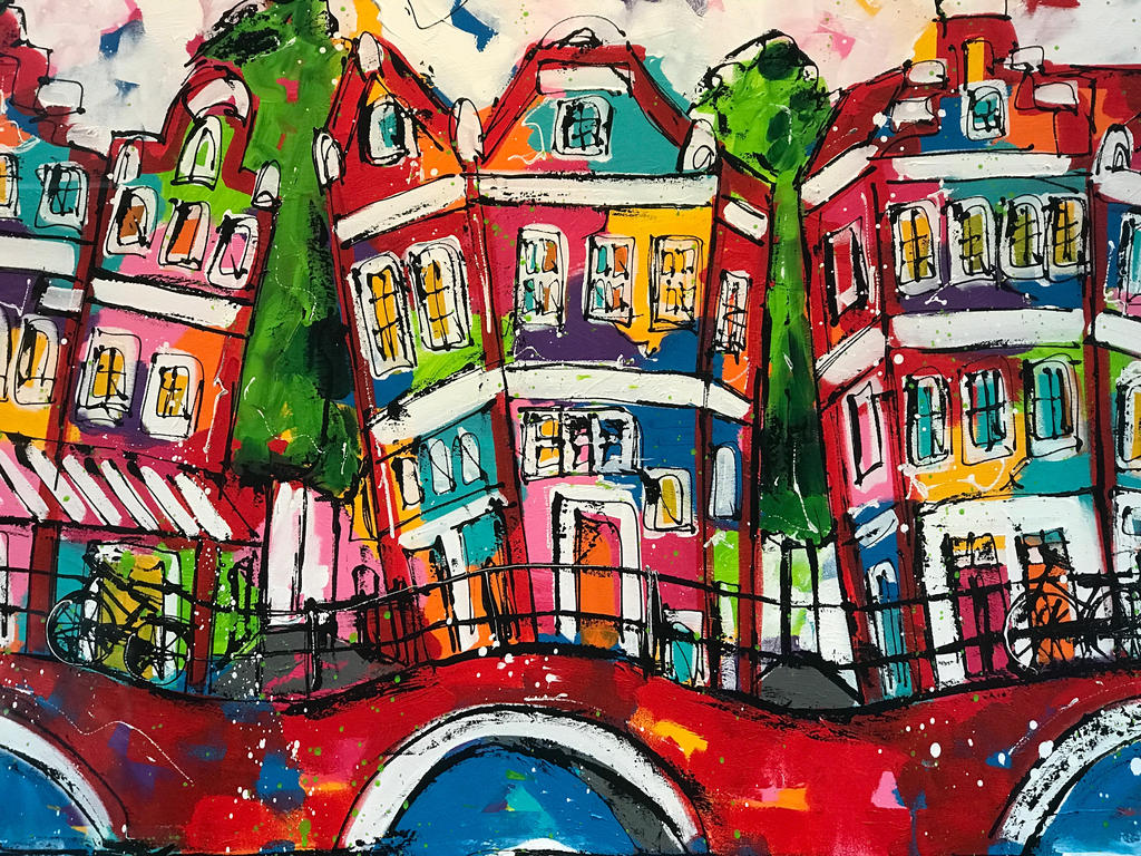 Amsterdam Painting by tpapatolis
