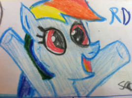 Rainbow dash I draw