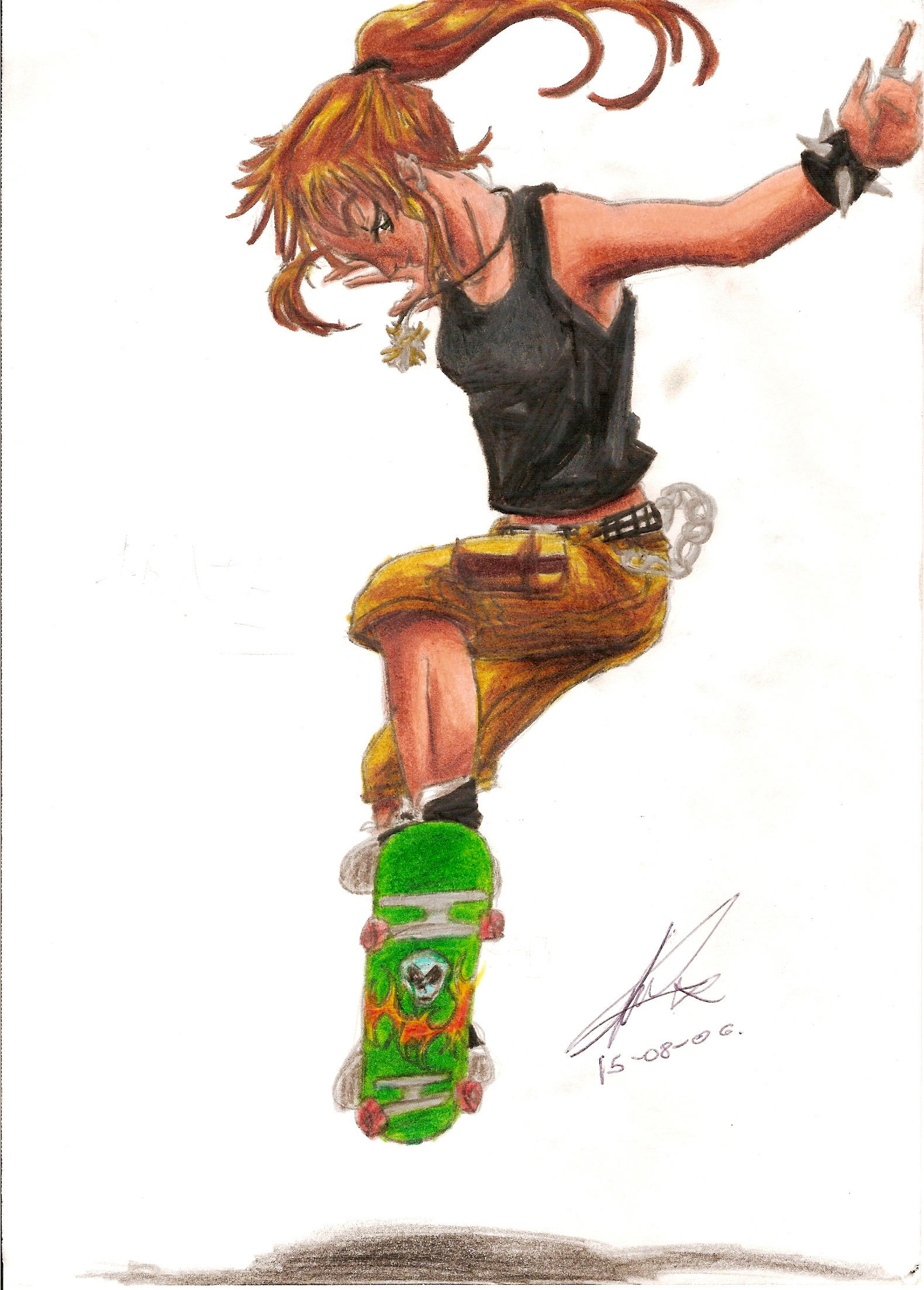Skate_-_Girl by yukax-poison