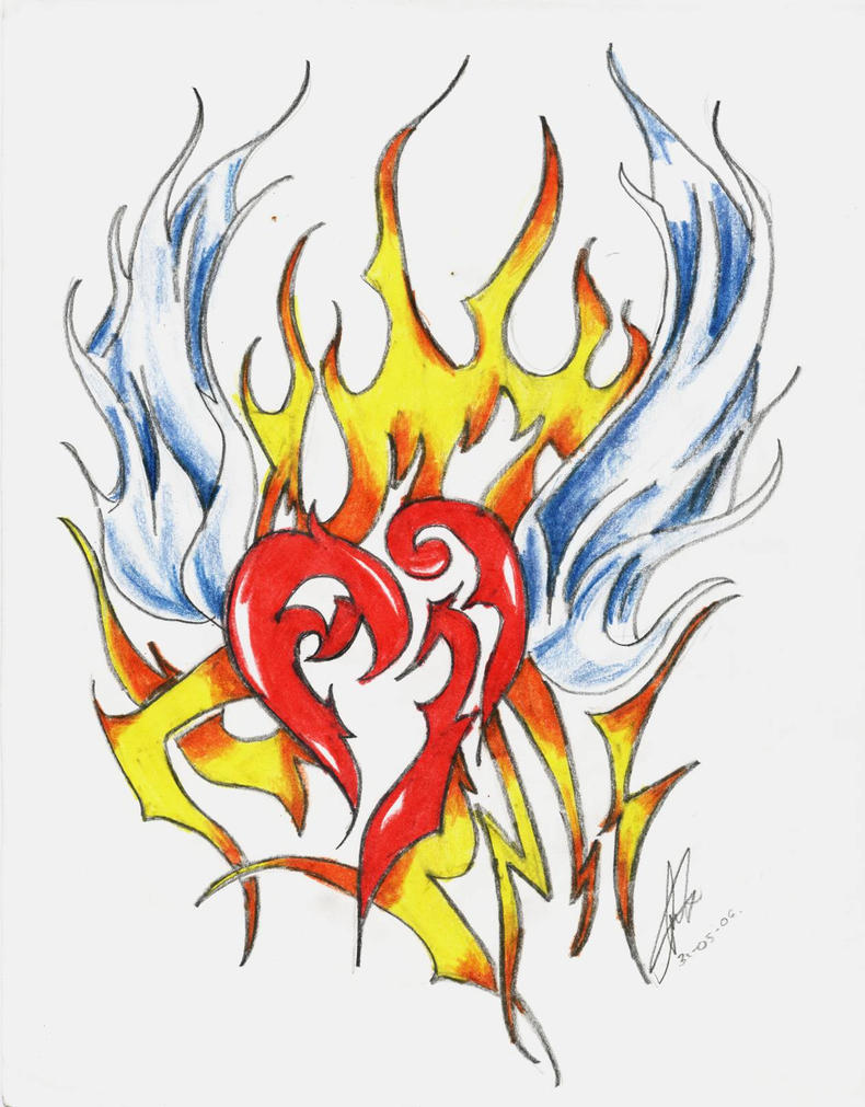 tattoo_-_flying_heart_fire by yukax-poison