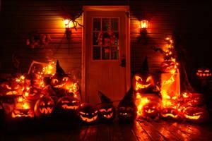 My house at Halloween by NiennaSurion