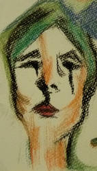 Odd Self Portrait, Evening by grassjellybaby