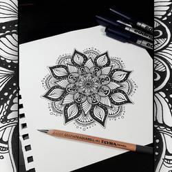 My first Mandala! ) by Werlioka