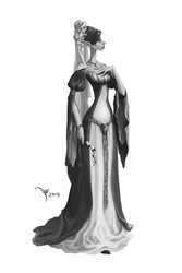 Elven Maiden por Werlioka