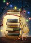 Christmas Books Bottle