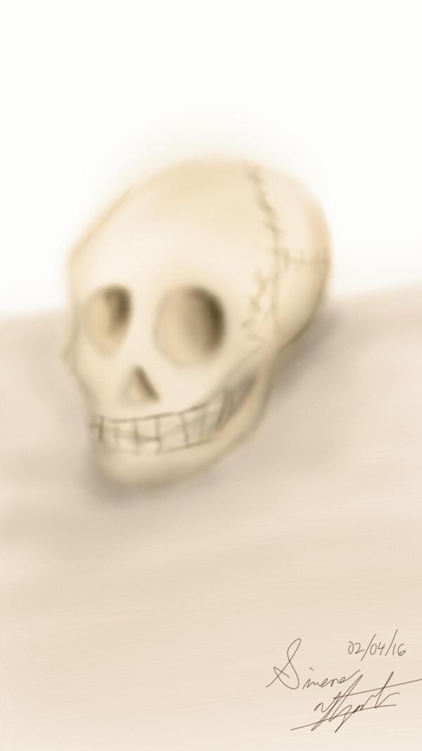 Skull Study by PunkGirl-Simeone