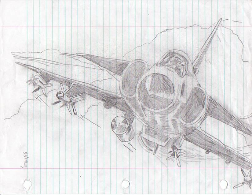 fighter jet drawing by maddoggyca