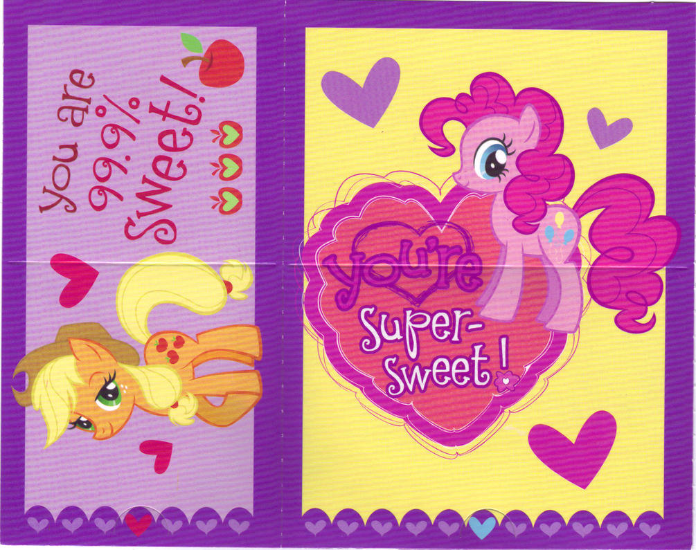 My Little Pony Valentines Cards 02 Front by MadDoggyca on DeviantArt