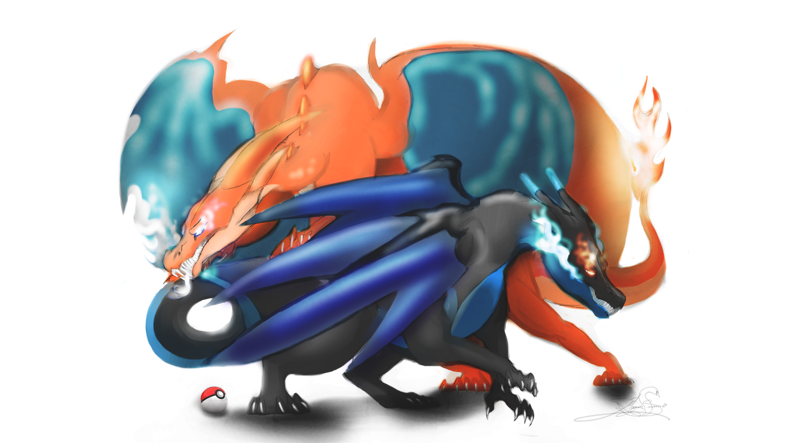 mega charizard x and y by zekromgoddess on deviantart