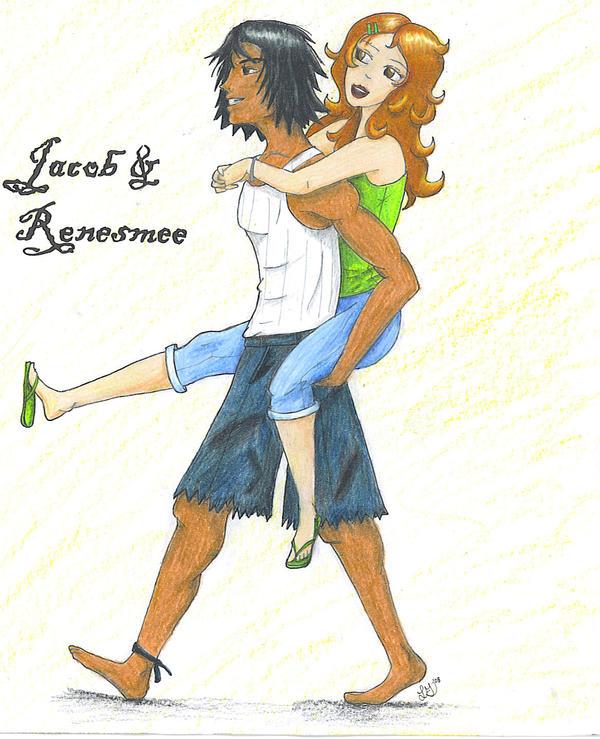Jacob and Renesmee by TemaShika85 on DeviantArt