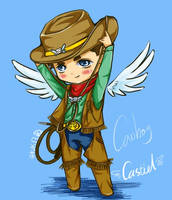 SPN-cass-cowboy by autumn-water