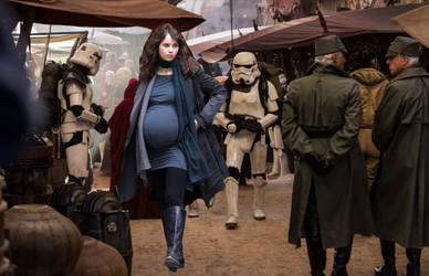 Rogue Womb: Pregnant Jyn Erso by GrevilleaDawn