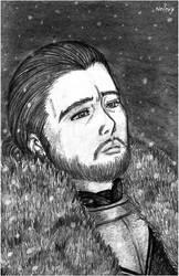 Winter is here-Jon Snow by neleuz