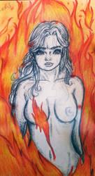 La que no arde-the Unburnt by neleuz
