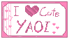 Cute Yaoi stamp
