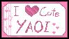 Cute Yaoi stamp by kumapastrychef