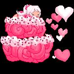 Gift~ Sleeping on a Cake by kumapastrychef