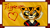 Tigress stamp by kumapastrychef